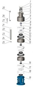 Типовая схема насосной части FRS6-10