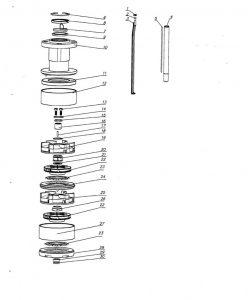 Типовая схема насосной части 3ЭЦВ8-65